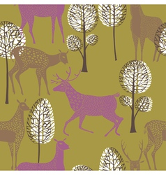 deer wallpaper vector image