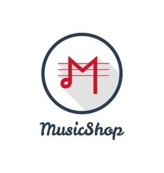 flat modern minimalistic music shop or vector image