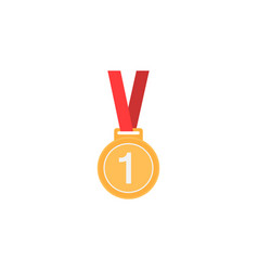 medal flat icon sport and champion element vector image