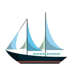 sail boat isolated icon vector image