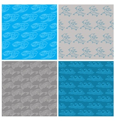 Set of Seamless Waves Background vector image vector image