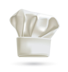 white chef hat photorealistic vector image vector image