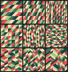 Set of 9 retro seamless patterns vector image vector image