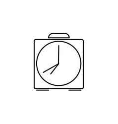 Alarm clock bell linear icon vector