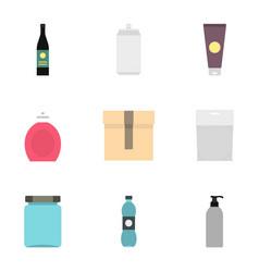 cardboard plastic metal packaging icons set vector image vector image