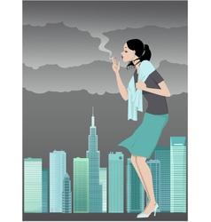 Danger of smoking vector image vector image