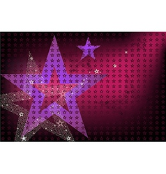 Disco Bright Background With Stars vector image vector image