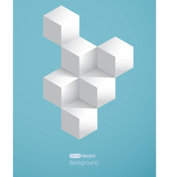 Realistic background with white cubes vector image vector image