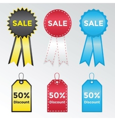 Set of labels and stickers for sales vector image vector image