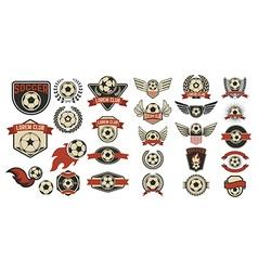 Set of soccer club labels vector image