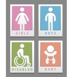 Toilet stickers vector image