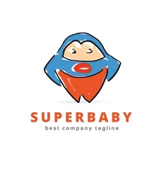 Abstract big super monster logo icon concept vector image vector image