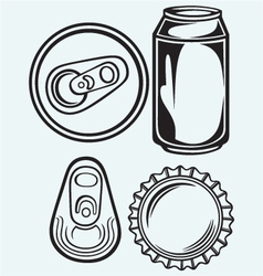 Bottle cap beer vector image vector image