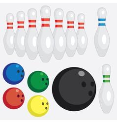 Bowling set vector image