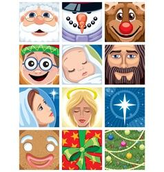 Christmas Avatars vector image