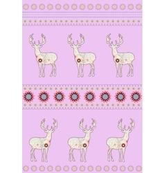 Deers with flowers vector image