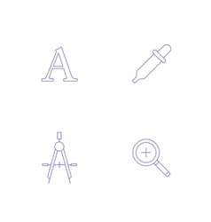 graphics designer tool icon vector image vector image
