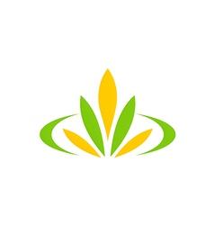 Green leaf flower plant spa logo vector