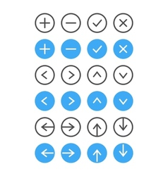 Thin Icon Set Navigation And List Management vector image vector image