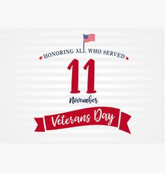 11 november veterans day usa poster light stripes vector image