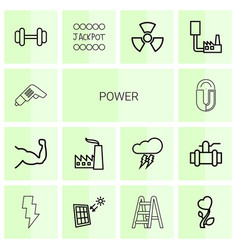 14 power icons vector