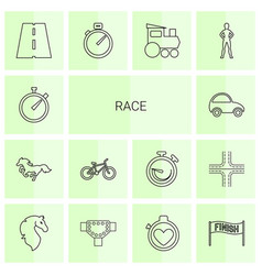 14 race icons vector