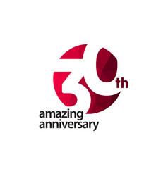 30 th amazing anniversary celebration template vector