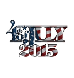 4th of July Cut Out 2015 vector image