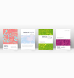 Abstract cover fetching design template vector