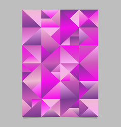 abstract geometrical polygonal triangle flyer vector image