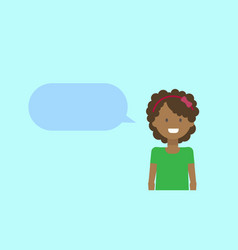 African american teenage girl happy smiling with vector