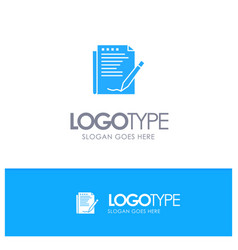 Agreement report form layout paper blue solid vector