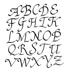 Alphabet brushpen 10 vector