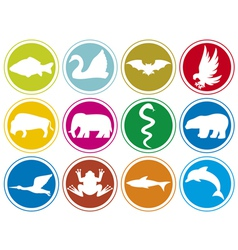 Animals icons buttons-animal icons set vector