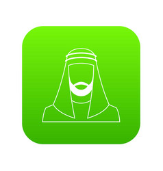 arabic man in traditional muslim hat icon digital vector image