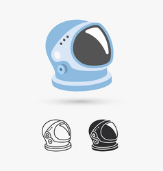 astronaut helmet with big glass and reflection vector image