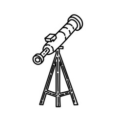 astronomy icon doodle hand drawn or outline icon vector image