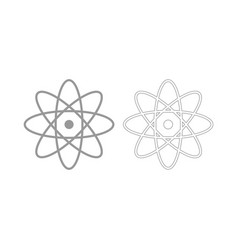 Atom the grey set icon vector