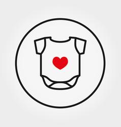 baby bodysuit universal icon thin line vector image