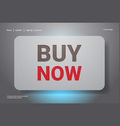big sale buy now template special offer shopping vector image
