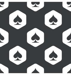 Black hexagon spades pattern vector