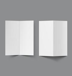 blank half fold brochure template for presentation vector image