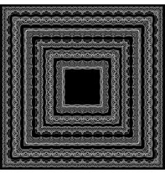 Border decoration elements patterns vector