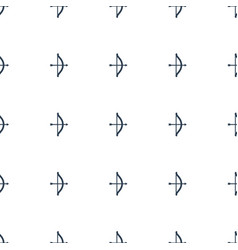 Bow icon pattern seamless white background vector