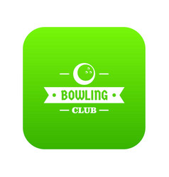 bowling icon green vector image