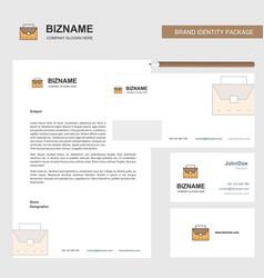 Breifcase business letterhead envelope and vector