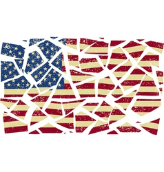 Broken-down American flag vector image