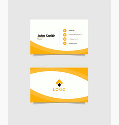 business card design in modern style vector image