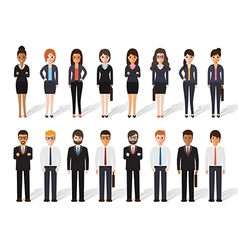 Businessman and businesswoman people icon vector