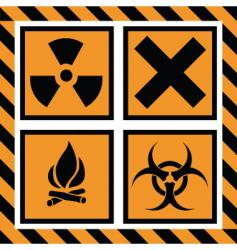 caution vector image